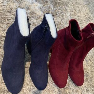 Suede Sock Booties (2 Pairs)